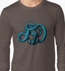 Snek Snake Turquoise Lime Green Long Sleeve T-Shirt