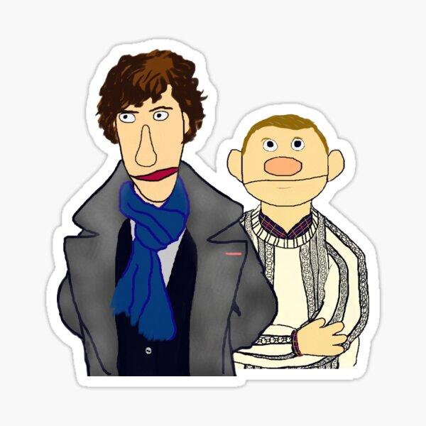 Sherlock and John Muppet Style Sticker