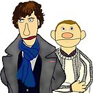 Sherlock and John Muppet Style by Qooze