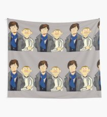 Sherlock and John Muppet Style Wall Tapestry