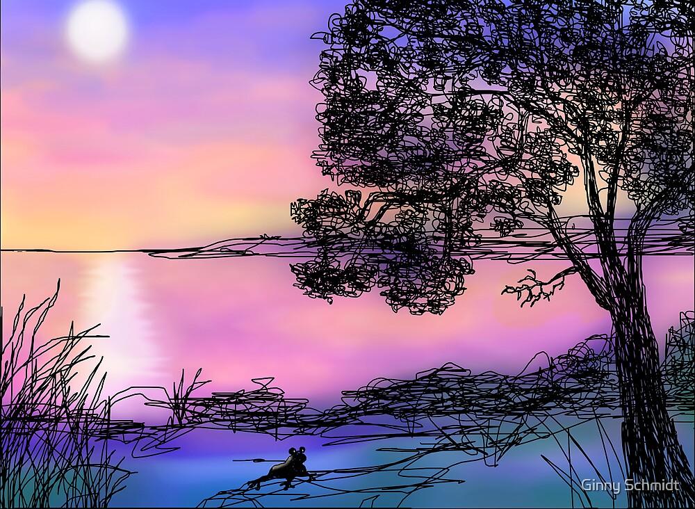 Moonbathing by Ginny Schmidt