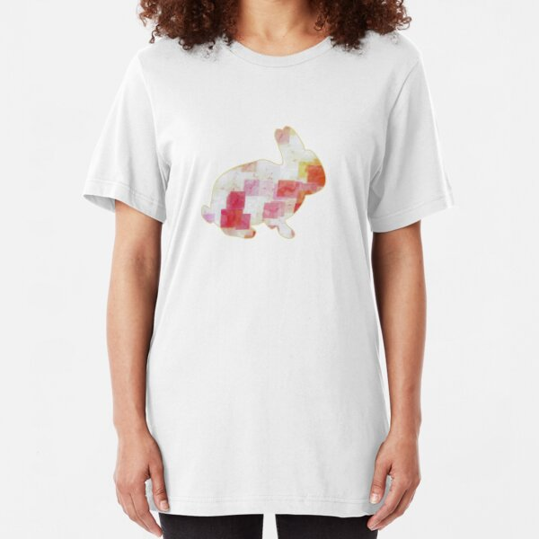 Tea Time Bunny Slim Fit T-Shirt