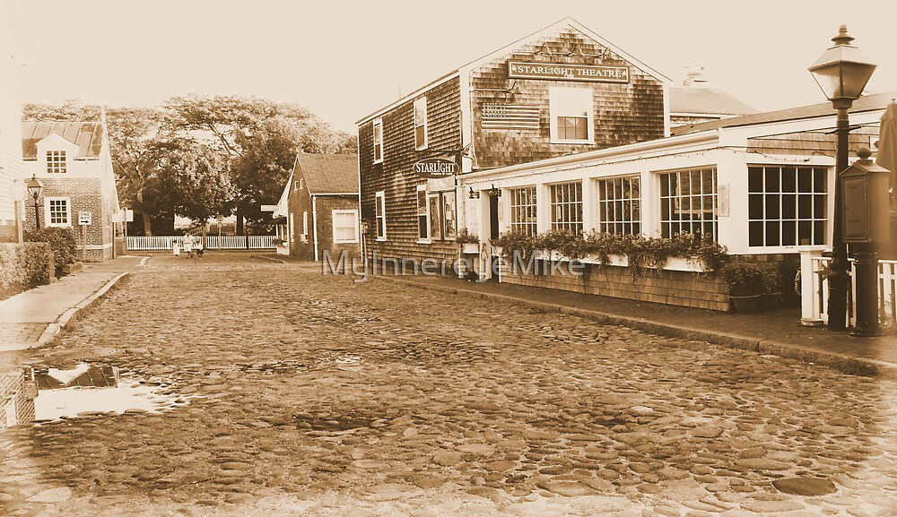 #488   Quiet Cobblestone Street Of Nantucket by MyInnereyeMike