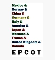 Epcot Photographic Print