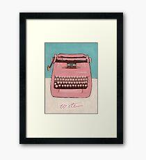 Write, or Pink Smith Corona Framed Print