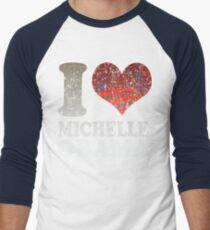 I love Michelle Obama t shirt Men's Baseball ¾ T-Shirt