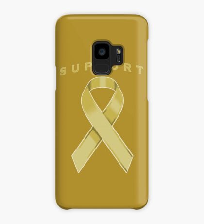 Gold Awareness Ribbon of Support Case/Skin for Samsung Galaxy