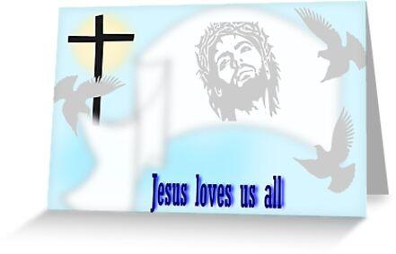 Jesus Loves us all (652 Views) by aldona