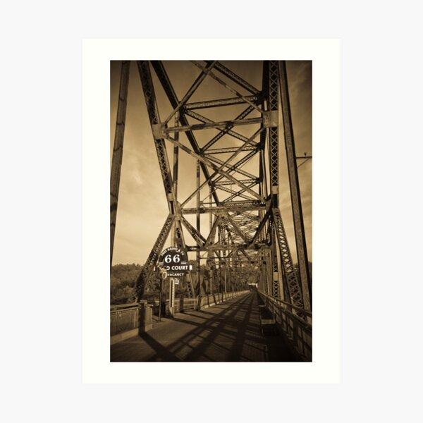Chain of Rocks Bridge. (Alan Copson ©) Art Print
