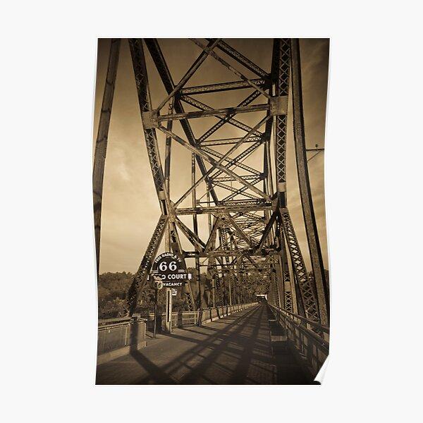 Chain of Rocks Bridge. (Alan Copson ©) Poster