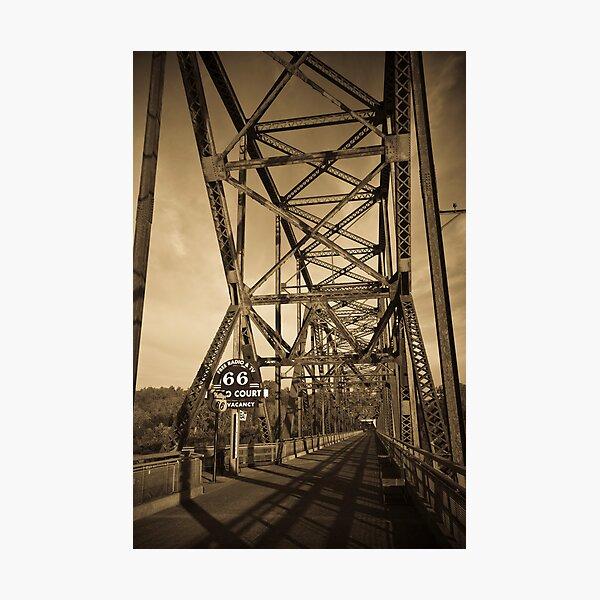 Chain of Rocks Bridge. (Alan Copson ©) Photographic Print