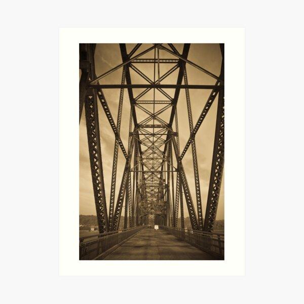 Chain of Rocks Bridge (Alan Copson ©) Art Print