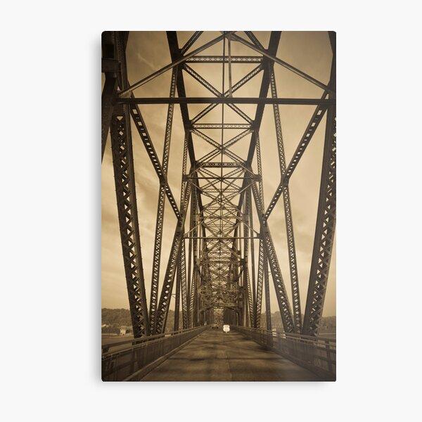 Chain of Rocks Bridge (Alan Copson ©) Metal Print