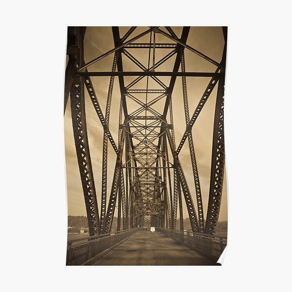 Chain of Rocks Bridge (Alan Copson ©) Poster