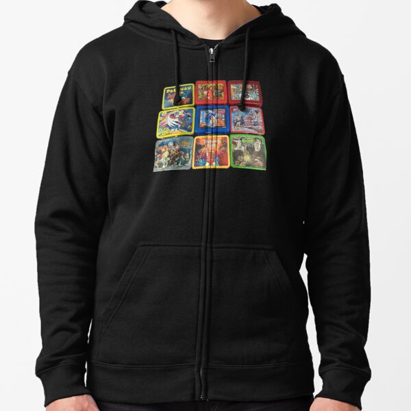 Vintage Metal Lunchbox Collection Zipped Hoodie
