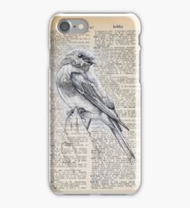 Literary Bluebird iPhone Case/Skin