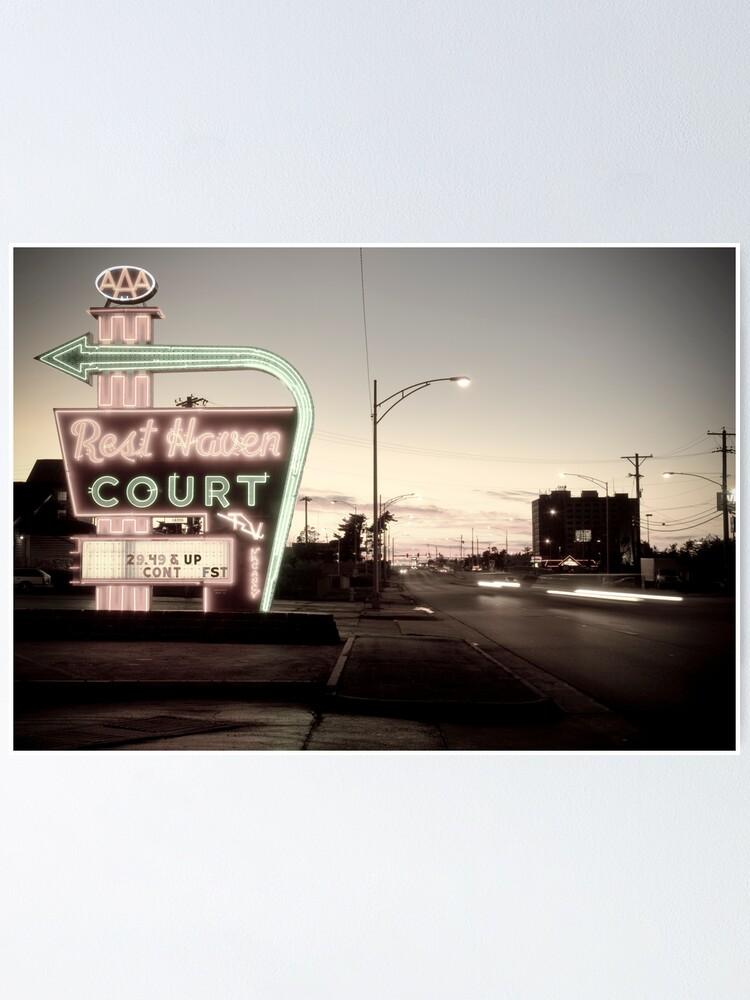 Alternate view of Rest Haven Court Motel. Missouri. (Alan Copson © 2007) Poster