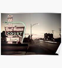Rest Haven Court Motel. Missouri. (Alan Copson © 2007) Poster