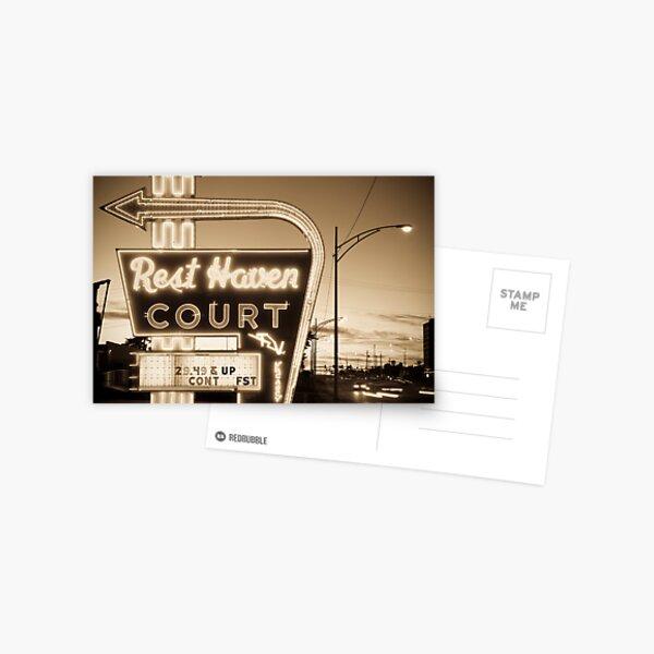 Rest Haven Court Motel. (Alan Copson © 2007) Postcard
