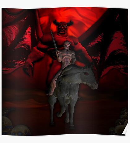 BEHOLD A PALE HORSE AND THE MAN WHO SAT ON HIM WAS DEATH AND HELL FOLLOWED WITH HIM Poster