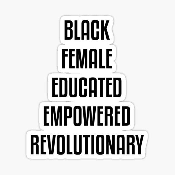 Diseño afroamericano femenino negro Pegatina