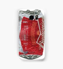 Budweiser - crushed tin Samsung Galaxy Case/Skin