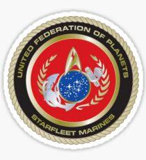 Fedration of Planets Starfleet Marines Sticker