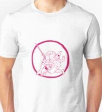 Samurai Jui Jitsu Fighting Enso Drawing T-Shirt