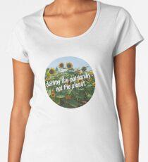 Destroy the Patriarchy, Not the Planet! Women's Premium T-Shirt