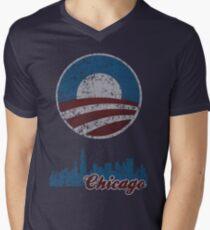 Chicago for Obama t shirt Men's V-Neck T-Shirt