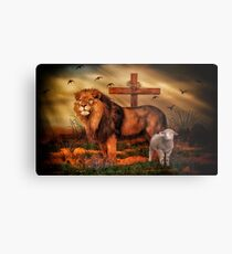 The Lion And The Lamb Metal Print