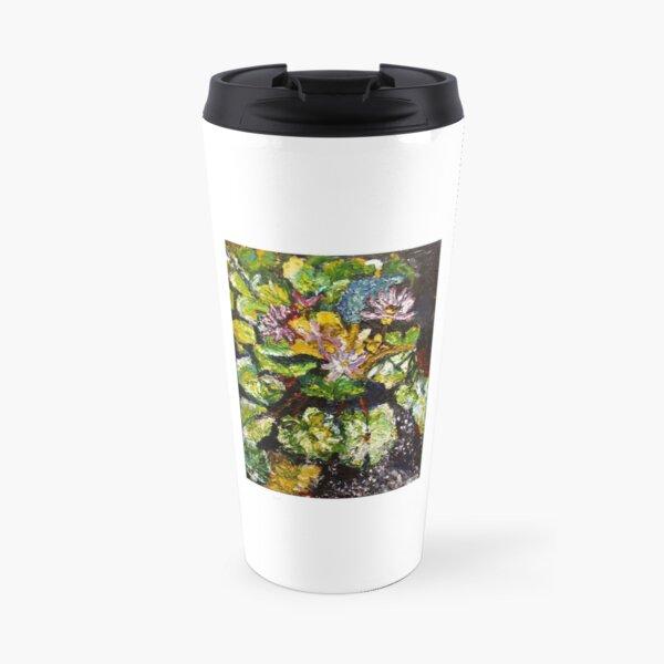 Lily Pond by Malinda Knowles Travel Mug