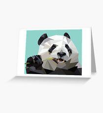 Blue Geo Panda Greeting Card