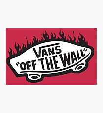 Vans Off The Wall Thrasher Flame Photographic Print
