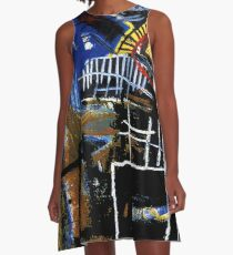 Jean-Michel Basquiat - Head 1981 A-Line Dress