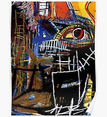 Jean-Michel Basquiat - Head 1981 Poster