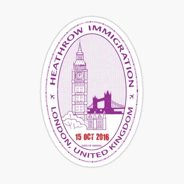 Passport Stamp - London Glossy Sticker