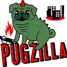 Pugzilla - white by Amy Grace