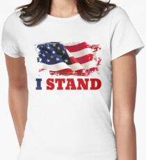 I Stand for the Flag | American Flag Women's Fitted T-Shirt