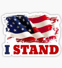 I Stand for the Flag | American Flag Sticker