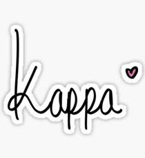 Handwrite Kappa  Sticker