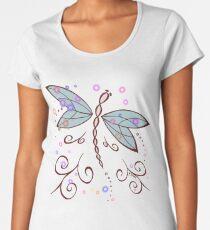Dragonfly and Lightning Bugs  Women's Premium T-Shirt