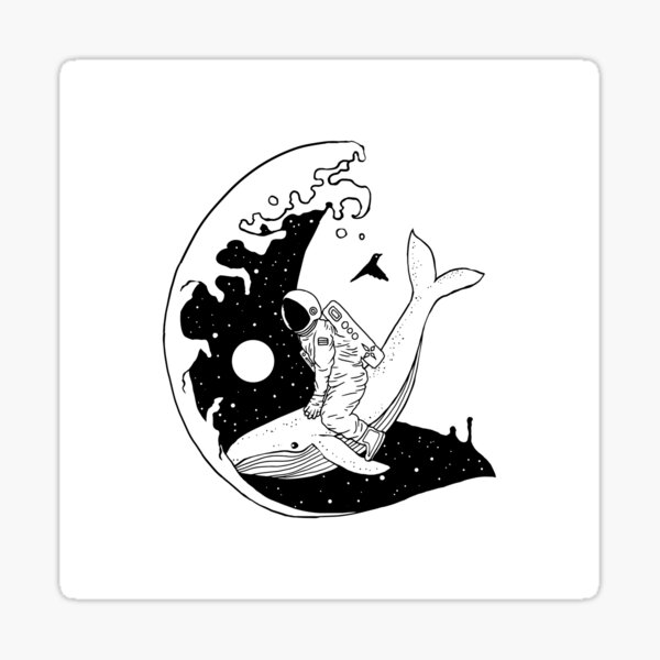 Space Wave (Take Me to the Place You've Dreamed Of) Sticker
