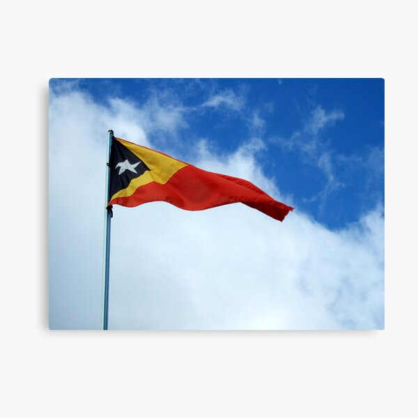 Timor-Leste flag by Richard Jones Canvas Print