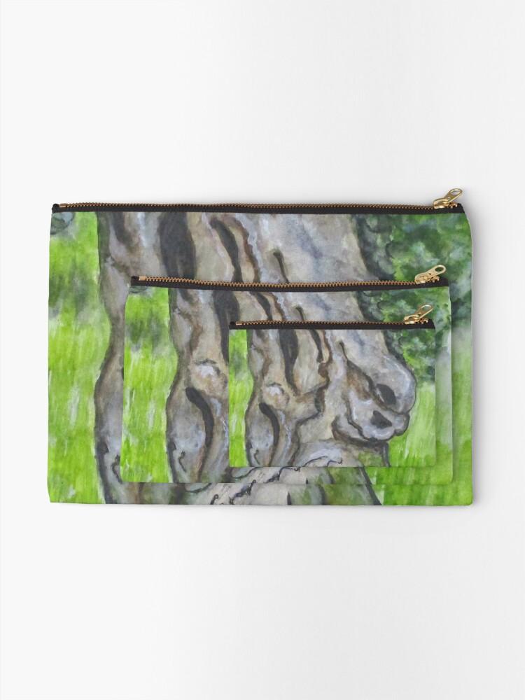 Alternate view of Wisdom Olive Tree Zipper Pouch
