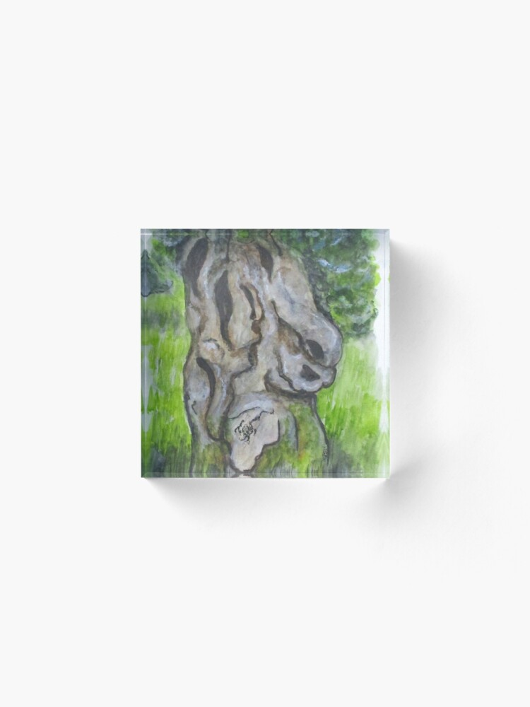 Alternate view of Wisdom Olive Tree Acrylic Block