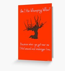 Whomping Willow Greeting Card