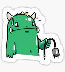 Cable Management Monster Sticker