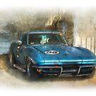 Blue Corvette by Stuart Row