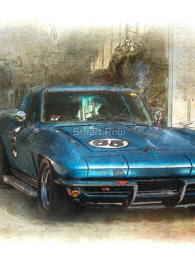 Blue Corvette by StuartRow